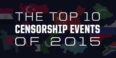 The Top 10 Internet Censorship Events of 2015